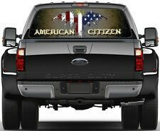 Eagel USA Flag Vulture American Citizen 7  Rear Window Graphic Decal  Truck SUV