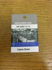 20/11/2012 Ticket: Portsmouth v Leyton Orient [Montgomery Suite VIP Guest Pass]