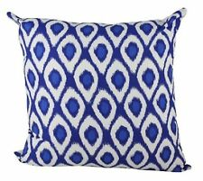 One Duck Two Ikat Cobalt cotton cushion cover