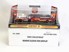 Code 3 Die Cast 1/64 Scale FDNY Seagrave Fire Engine Aerial Ladder Truck 147