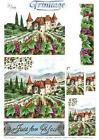 3D Trinitage Pop-up Card Making Paper Tole The Vineyard NEW