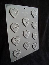 Assorted Message Hearts Chocolate Mould / Moulds / Mold 1126