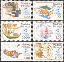 Madeira 1980 Tourism/Wine/Orchid/Boat/Oxen/Sledge/Transport/Nature 6v set n44498
