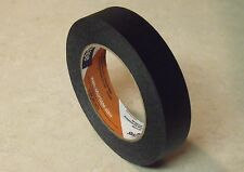 Case of 12  Rolls -180 Feet Each - 1 Inch Wide BLACK MASKING TAPE