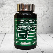 Scitec Nutrition VITAMIN D3 An Important Vitamin Source 250 Capsules