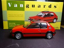 WOW EXTREMELY RARE 1/43 VANGUARDS PEUGEOT 205 GTI CHERRY RED NLA