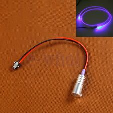 1Pcs Purple 12V Fiber Optic LED Light Source Guide illuminator Metal Head HM