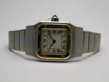 CARTIER SANTOS DE CARTIER MODEL W20012 QUARTZ STAINLESS STEEL/18K GOLD WATCH