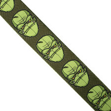 Green Comic head Guitar Strap Frankenstein gorilla pop culture cartoon funky hip