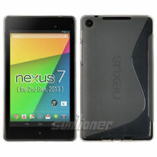 For ASUS Google Nexus 7 2nd Gen (2013) Gray Gel TPU Skin Case Cover