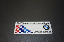 BMW Motorsport Embossed Metal Badge Emblem Sticker Logo Series 1 3 5 7 M3 M4 M5