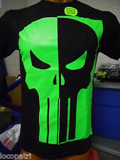 Mens Licensed Marvel Punisher Glow in The Dark Shirt New M