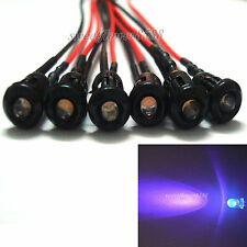 3mm colorful pre-wired 20cm LED light Lamp 12V DC with Plastic Bezel Holders New