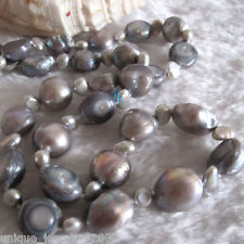 "20"" 4-11mm Gray Baroque Freshwater Pearl Necklace"