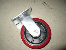 Heavy Duty 6 inch Rigid Caster Polyurethane Wheel