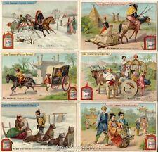 Chromo Liebig Sang. 579 TED Modo di Viaggiare ANNO 1898