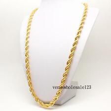"""30""""  9K Yellow Gold Filled Men's jewelry Rope Chain Link Necklace CA FN3166"""
