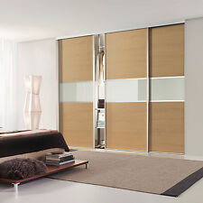 Oak Sliding Wardrobe Doors (Lancaster Oak) - Made-to-Fit your dimensions & space