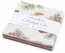 """Midnight Clear Moda Christmas Charm Pack 42 100% Cotton Fabric 5"""" Quilt Squares"""