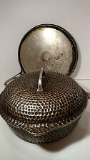 VINTAGE CHICAGO HARDWARE DEEP HAMMERED CHROMED CAST IRON CHICKEN FRYER & skillet