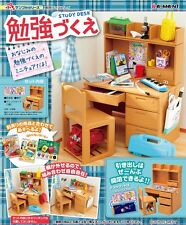 Re-Ment Miniature Study Desk and Chair Drawer