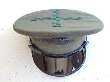 USMC US MARINE CORPS OFFICER'S SERVICE DRESS OLIVE GREEN COMBINATION CAP SIZE 7