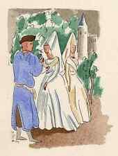Tembloroso solicitud-Adolphe resorte colorierte litografía a. perrigotbütten
