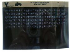 Yamaha YFM400 1995 Kodiac YFM400FWG Parts List Manual Microfiche s18