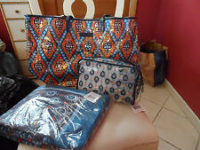 Vera Bradley Marrakesh beach set - sparkle tote, towel, large clear cosmetic