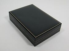Jewelry Box Black Faux Leather Jewelry Necklace Accessories Box Case