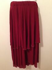 Belly Dance Burgundy Skirt and Veil Set