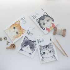 Cute Cat Memo Book Diary Planner Note Book Animal Journal