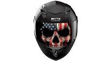 American Flag Skull Visor Decal Universal Fits All Sport Bike Helmet Visors