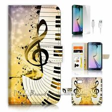 Samsung Galaxy ( S7 Edge ) Flip Wallet Case Cover P1547 Music Notes