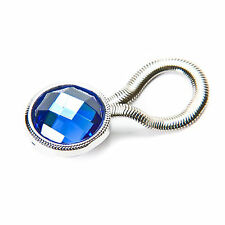 Blue Crystal Eye Glass Clip Brooch Magnetic Holder NEW