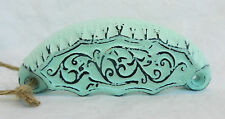 Victorian Style Distressed and Painted Cast Iron Drawer Handle - BNWT