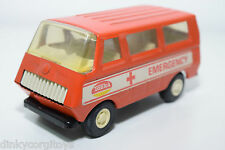 TONKA TINPLATE BLECH EMERGENCY VAN AMBULANCE NEAR MINT RARE SELTEN RARO