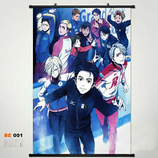 Yuri!!! on Ice Yuri Plisetsky Victor Poster Scroll Wall Cloth Decor 40x60cm