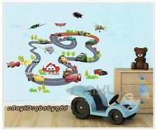 Disney Cars Racing Map Planes Wall decals Removable sticker Kids Nursery Decor