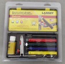 LANSKY KNIFE SHARPENERS LKCLX DELUXE SHARPENING SYSTEM 5 HONES USA MADE NEW!!!