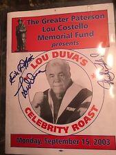 EMILE GRIFFITH ,LOU DUVA UNCLE FLOYD Autographed Roast Dinner Program . Pictures