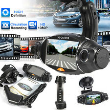 "Dual Lens Camera HD Car DVR Video Dash Cam G-Sensor Night GPS 2.7"" LCD Screen"