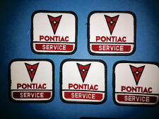 5 Lot Vintage 1980's Pontiac Service Iron On Car Club Jacket Hat Patches Crests