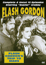 BUSTER CRABBE CHARLES MIDDLETON - FLASH GORDON TRIP TO MARS COMPLETE - 2 DVD SET