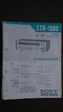Sony str-1800 Service Manual schematic Original book stereo tuner radio receiver