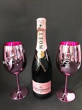 Moet Chandon Imperial Rose Champagner Flasche 0,75l 12% Vol +2 Rosé Echt Glas