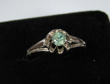 14K Solid White Gold 0.39 CT. Natural Russian Alexandrite Ring + certificate MGU