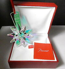 BACCARAT 2013 Annual NOEL Christmas Ornament, Iridescent Star, New in SEALED Box
