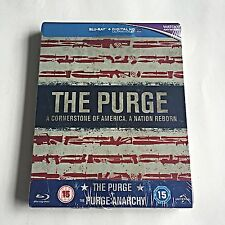 The Purge Collection 1 & 2 Blu-Ray Steelbook [U.K.] HMV Exclusive! Region Free!