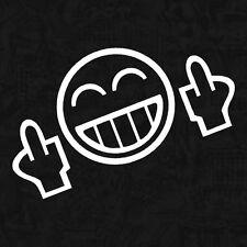 Shocker Smiley Fuck Mittelfinger kult Autoaufkleber Aufkleber Sticker JDM 12cm